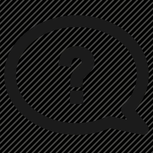 faq, help, hint, question icon