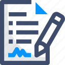 contract, document, plan, requirement, stories icon