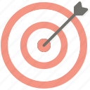 arrow, business, seo, target, targeting icon