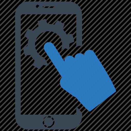 mobile marketing, screen, seo, seo services, setting, touch, web design icon
