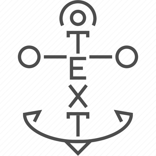 Anchor, letter, message, text icon - Download on Iconfinder