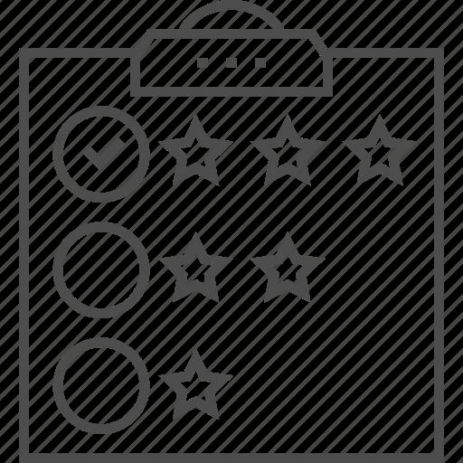 Check, checklist, customer review, list, mark, ok, star icon - Download on Iconfinder