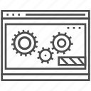 gear, optimisation, page, seo, site, web, website icon