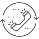 arrow, contact, handset, phone, phone handset icon