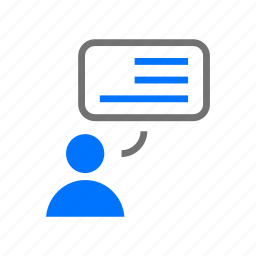 blog, blogging, chat, comment, commenting, messaging icon