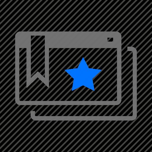 bookmark, browser, marker, preference, service, web, website icon