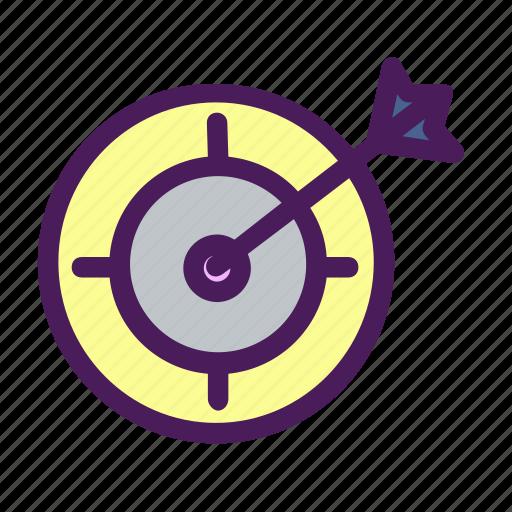 aim, arrow, center, point, target icon