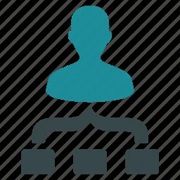 analytics, diagram, hierarchy, links, organization, structure, union icon