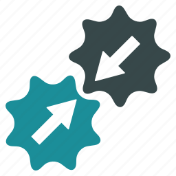 automatic connection, business tools, connect gears, gear contact, integration process, link, system settings icon
