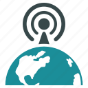broadcast, center, international, internet, network, news, radio signal icon