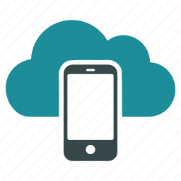 cloud, communication, computing, mobile, phone, telephone, weather forecast icon