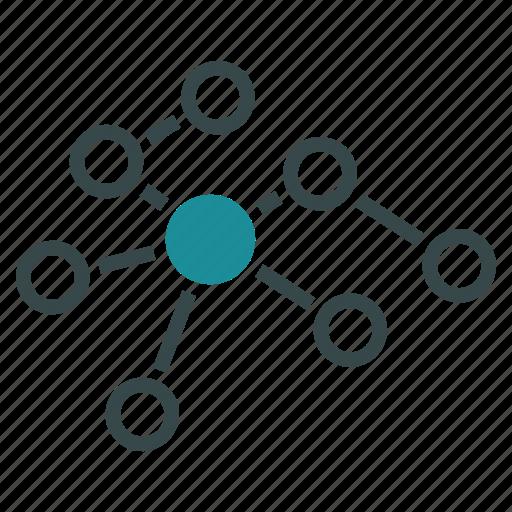 breeding, links, multiplication, net, network, nodes, web icon