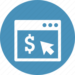 business, click, earning, internet, online, pay, per icon