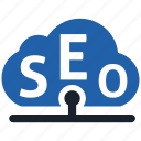 cloud, seo icon