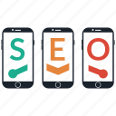 mobile, seo icon