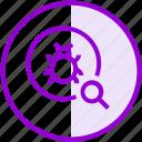 antivirus, bug, magnifier, scan, search, seo, virus icon
