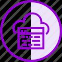 browser, cloud, internet, seo, server, website icon