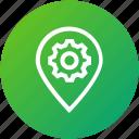 seo, setting, gear, pointer, location, pin