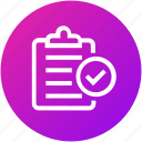 accept, agree, check, clipboard, document, marketing, seo