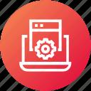 browser, development, laptop, seo, setting, website