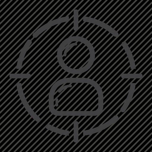 audience, customer, development, focus, marketing, seo, target icon