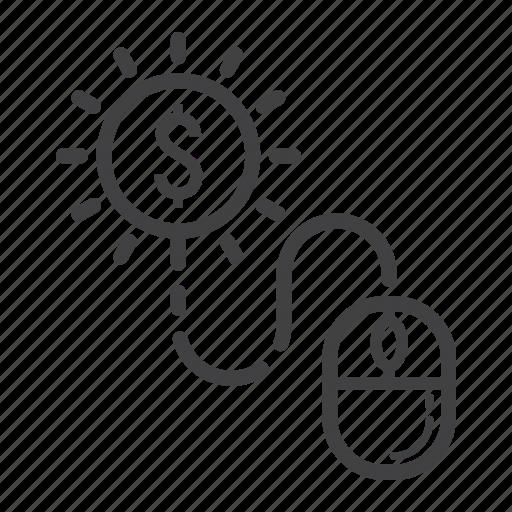 click, development, marketing, mouse, pay, per, seo icon