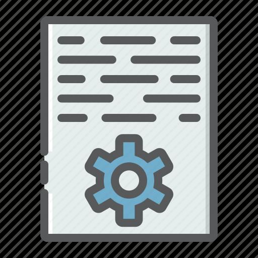 article, content, development, document, gear, marketing, seo icon