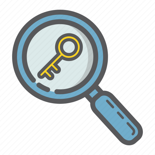 Find, keyword, lens, magnifier, research, seo, zoom icon - Download on Iconfinder