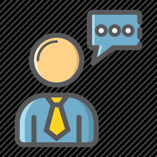 businessman, consulting, development, person, seo, service, support icon