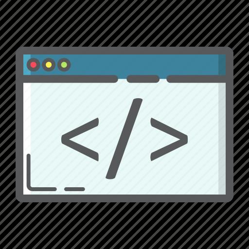 browser, coding, custom, development, programming, script, seo icon