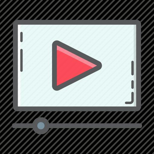 development, marketing, online, play, seo, social, video icon