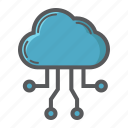 cloud, computing, development, download, network, seo, server icon