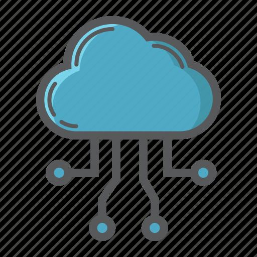 cloud, computing, development, download, network, seo, server icon