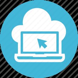 cloud, computing, data, internet, line, network, storage icon