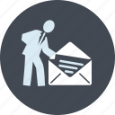 business, communication, contact, line, mail, people icon