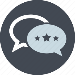 comments, customer, line, reviews, star rating, testimonials, website icon