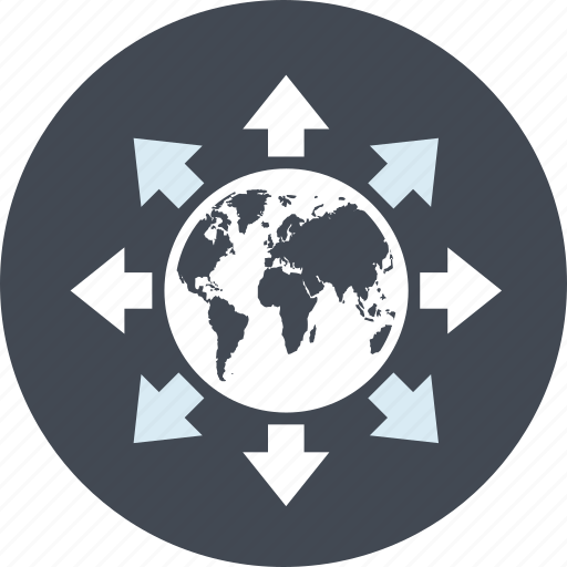 business, global, internet, line, network, solutions icon