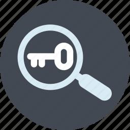 internet, keyword, line, research, seo, website icon