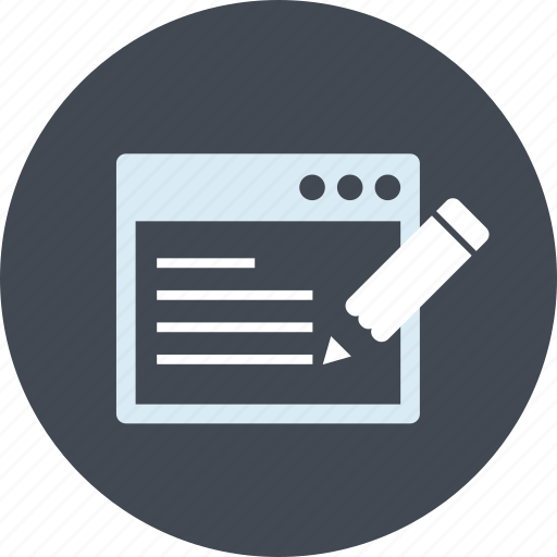 blog, content, copywriting, line, seo, website icon