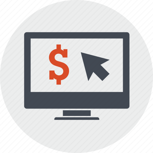 business, click, earning, internet, money, pay, per icon