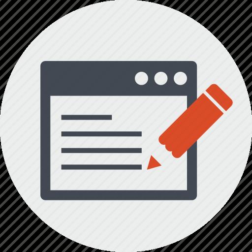 blog, content, copywriting, forum, line, seo, website icon