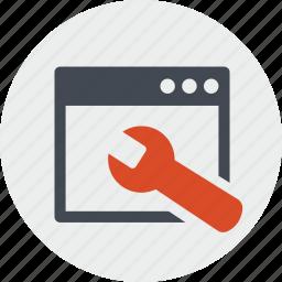 app, line, maintenance, seo, services, website icon