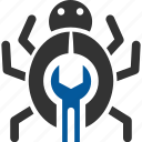bug, fix, malware, repair, virus icon