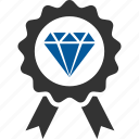 badge, diamond, premium, quality icon
