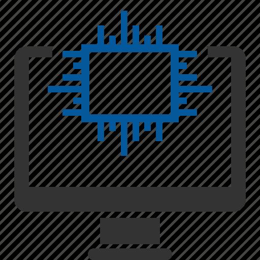 cpu, desktop, processor icon