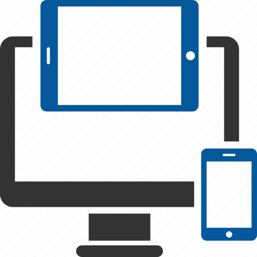 computer, design, responsive, system icon