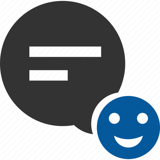 comment, feedback, smiley icon