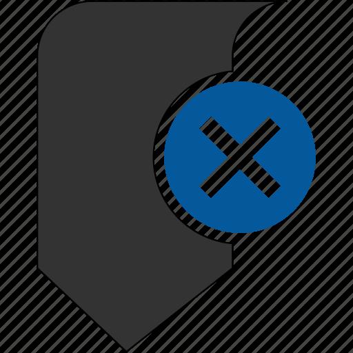 bookmark, from, remove icon