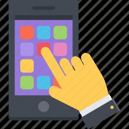 app, arm, mobile, phone, smartphone icon