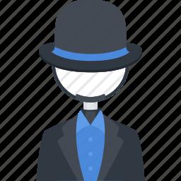 black hat seo, loupe, optimization, seo icon
